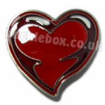 LARGE HEART - RED Belt Buckle + display stand